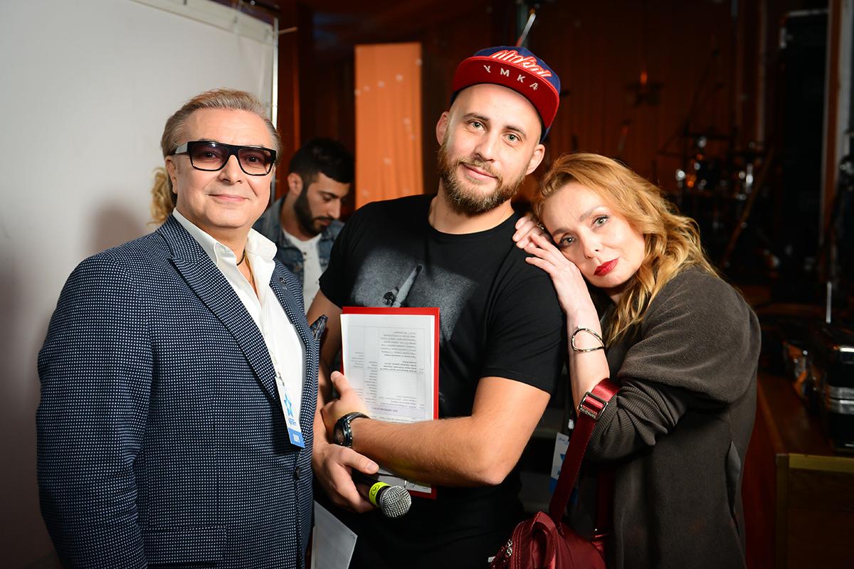 Член жюри премии Виталий Краев, ведущий премии Александр Морозов, режиссер и продюсер Влада Печорская
